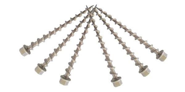 6 High-Grade Stainless Steel Ground Dogs bolt kept on white background